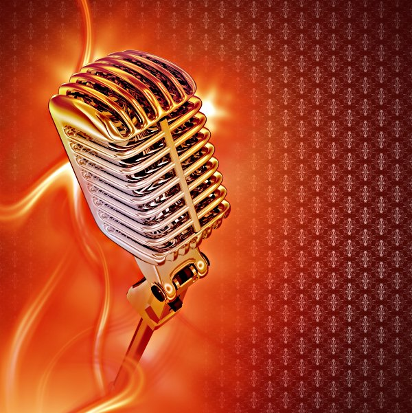 Vintage Microphone:karaoke,flames,music,audio,sound,beats,beat,red,reddish,hot,event,background,retro,style,stylish,microphone,mic,silver,chrome,chromed,design,illustration,stand,standing,technology,sing,song,singing,songs,party,concert,show,showman,vintage,cool,browny,warm,vertical,flamed,burn,burnout,burning,floral,pattern,burgundy,copy,copyspace,artistic,art,voice,voiceover